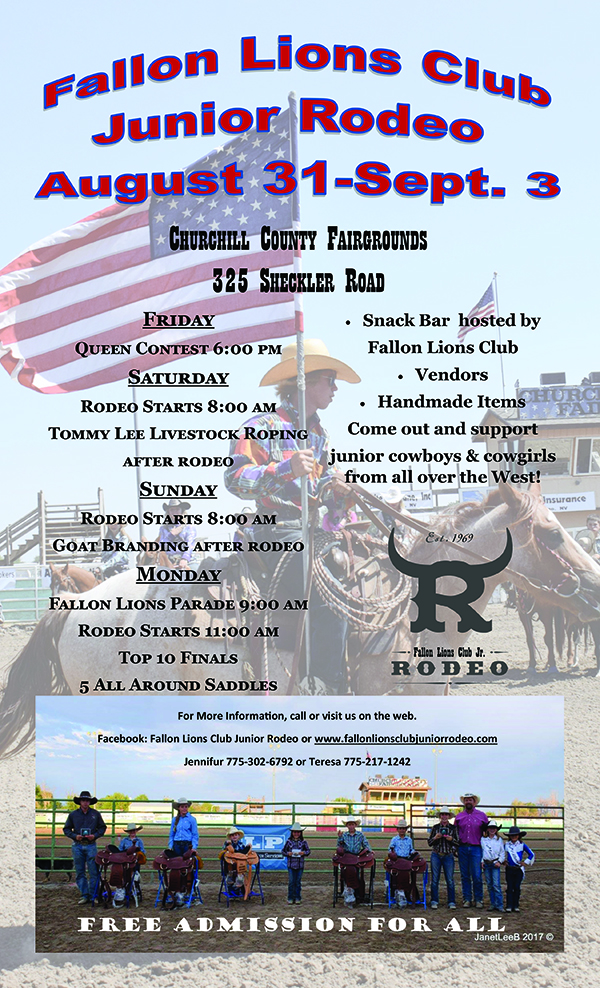 Fallon Lions' Club Jr. Rodeo @ Churchill County Fairgrounds